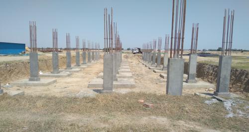HVAC PLANT ROOM -  column casting works in completed 12.04.2021