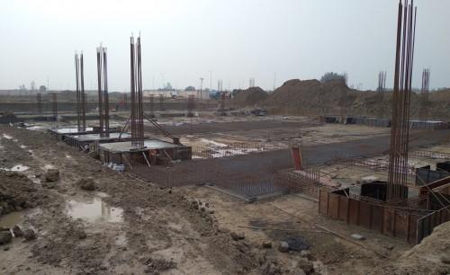 SPORTS COMPLEX – Footing steel work in progress, RCC work in progress 05.01.2021