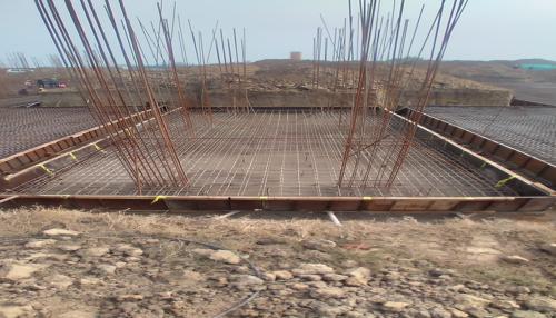 Hostel Block H4 – steel placing & binding second layer in progress 05.01.2021