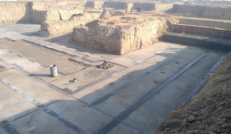 AUDITORIUM  –  Footing PCC work  in progress (21.12.2020)