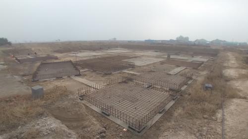 LIBRARY- footing steel work in progress (28.12.2020)