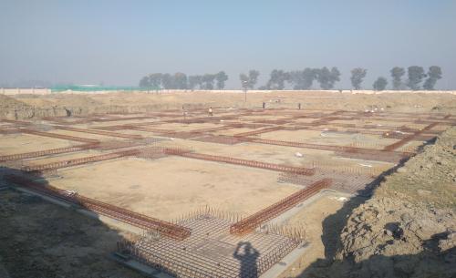 Dinning block – Footing steel work in progress (01-12-2020)