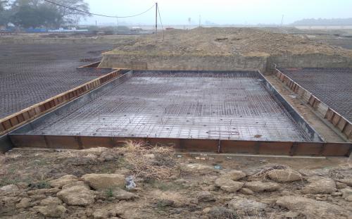 Hostel Block H6 – Steel placing & binding work – second layer work in progress - (14-12-2020)