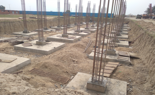 HVAC PLANT ROOM -  Footing casting work in completed layout in progress 15.03.2021