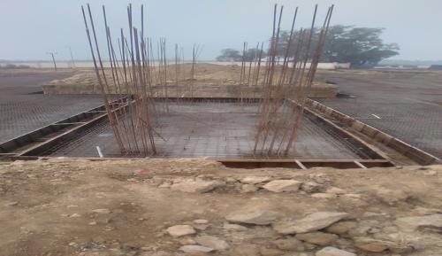 Hostel Block H2 – steel placing & binding in progress (28.12.2020)
