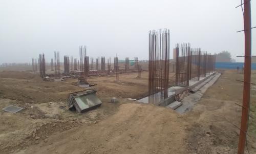 SPORTS COMPLEX – Footing steel work in progress, RCC work in progress. 16.02.2021