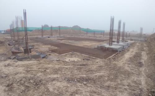 SPORTS COMPLEX – Footing steel work in progress, RCC work in progress 11.01.2021