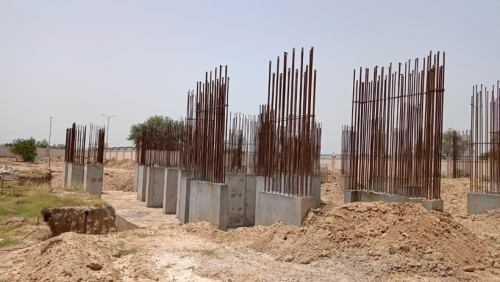 Non Teaching Staff Residence – shear wall casting work in completed  31.05.2021