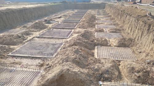 HVAC PLANT ROOM -  Footing steel work in progress 08.02.2021