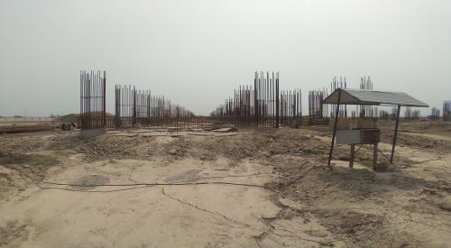 Faculty & Admin BlockFaculty & Admin block –  soil filling work in completed grade slab works in progress 04.05.2021