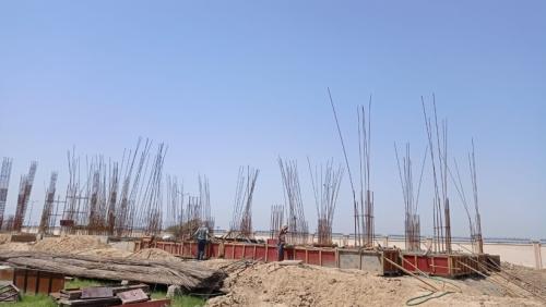 Professor's residence – Soil filling work in completed grade slab beam casting work in progress 17.05.2021