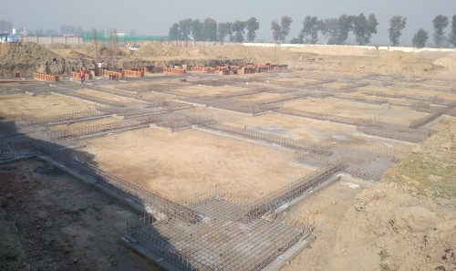 Dinning block – Footing steel work in progress (21.12.2020)
