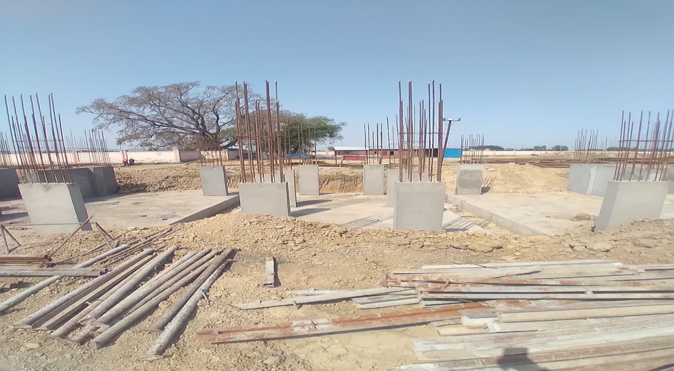 Hostel Block H4 – column casting work in Completed 12.04.2021