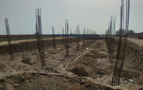 HVAC PLANT ROOM -  Footing steel work in progress 23.02.2021