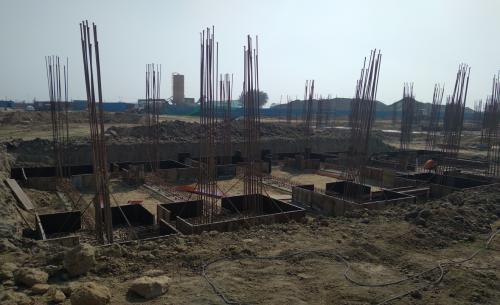 HEALTH CENTRE-Footing steel  work in progress 01.03.2021
