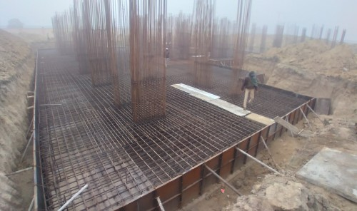 Associate Professors Residence – Raft steel placing in second layer completed 18.01.2021