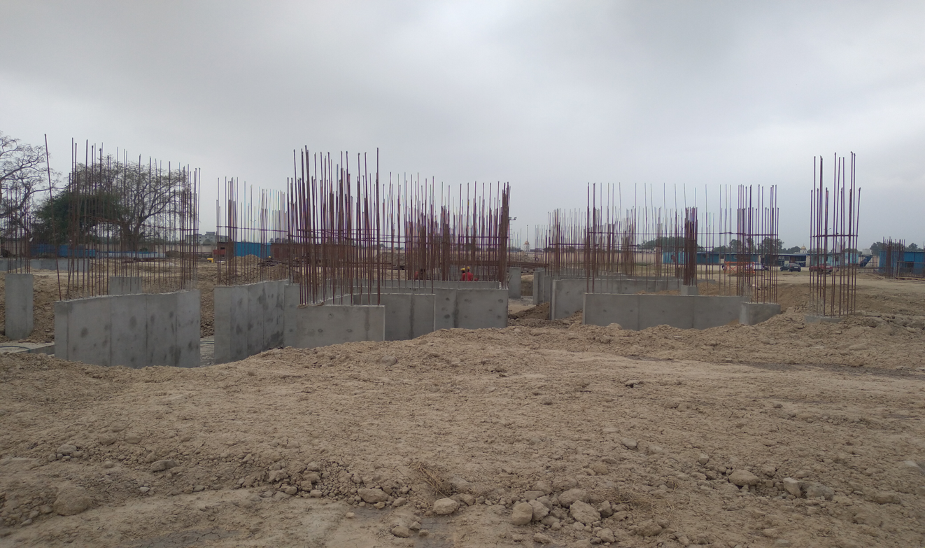 Hostel Block H7- column casting &shear wall work in completed 05.04.2021