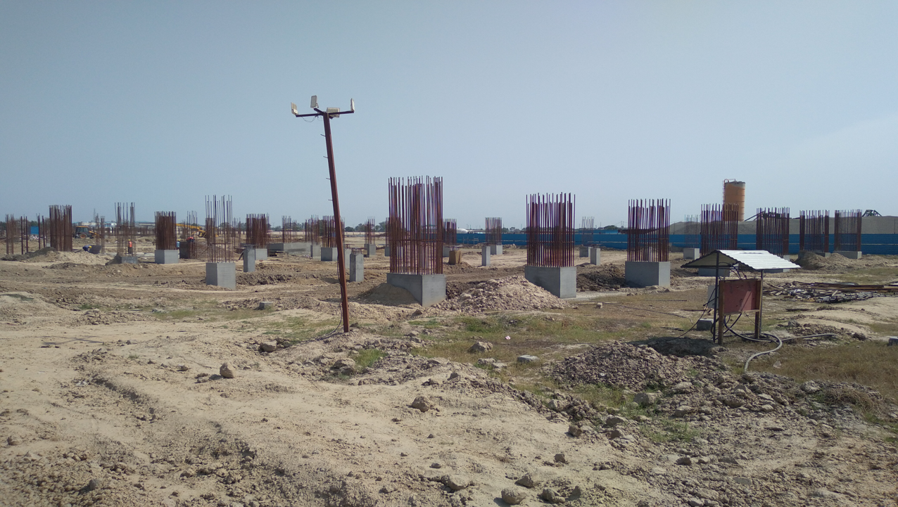 SPORTS COMPLEX –  column casting work in completed 12.04.2021
