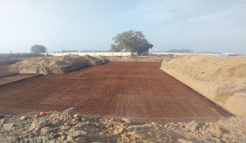 Hostel Block H3 – steel placing & binding second layer in progress -(08-12-2020)