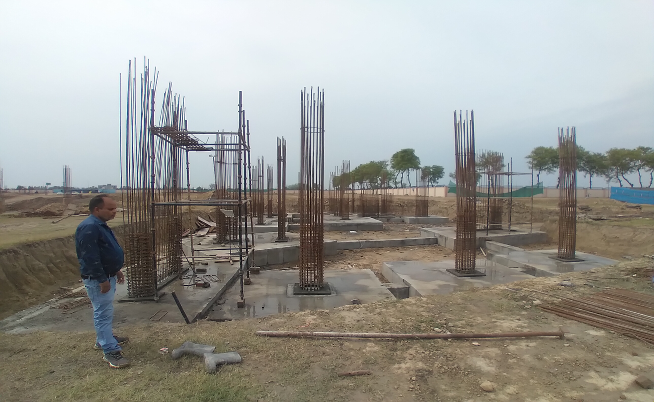 INCUBATION – RCC Footing work in completed layout work in progress 22.03.2021