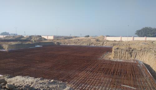 Non Teaching Staff Residence – steel placing & binding work in progress (01-12-2020)