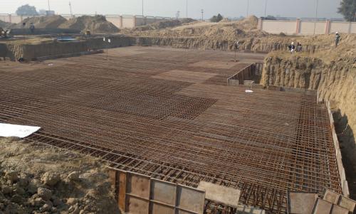 Non Teaching Staff Residence – steel placing & binding work in progress (21.12.2020)