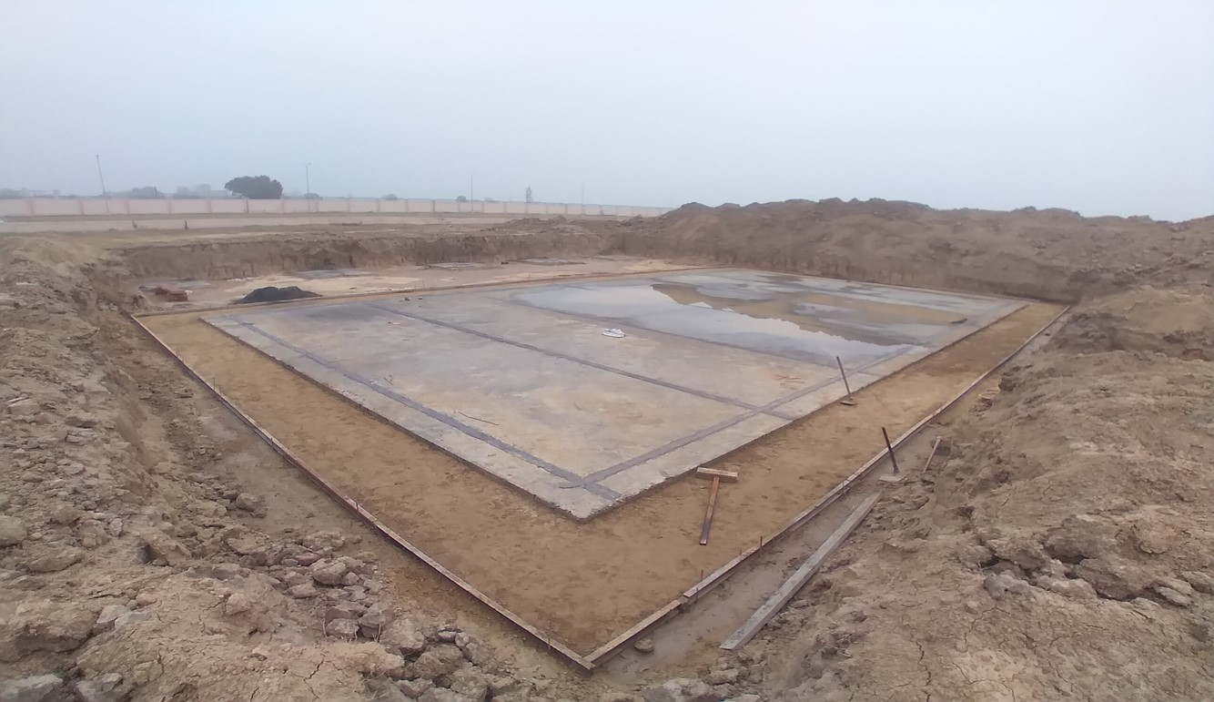 WATER TANK & Plant room  - Footing PCC work Progress - (14-12-2020)