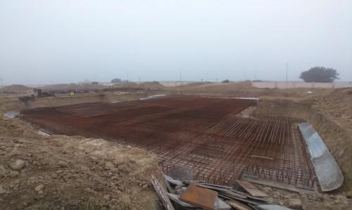 Non Teaching Staff Residence – steel placing & binding work in progress - (14-12-2020)