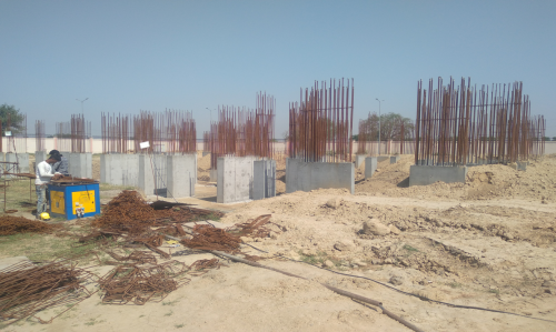 Non Teaching Staff Residence – shear wall casting work in completed 26.04.2021