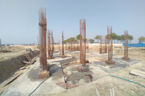 INCUBATION – RCC Footing work in completed layout work in progress 30.03.2021