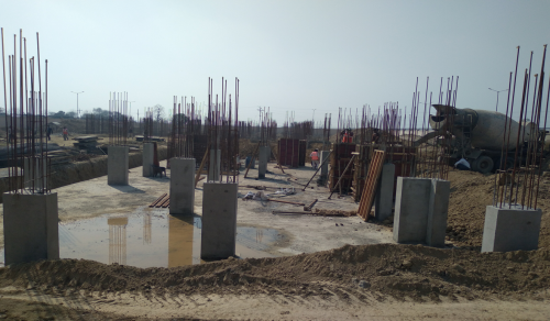 Professor's residence – Raft RCC work Completed column casting work in completed shear wall caste work in progress 01.03.2021