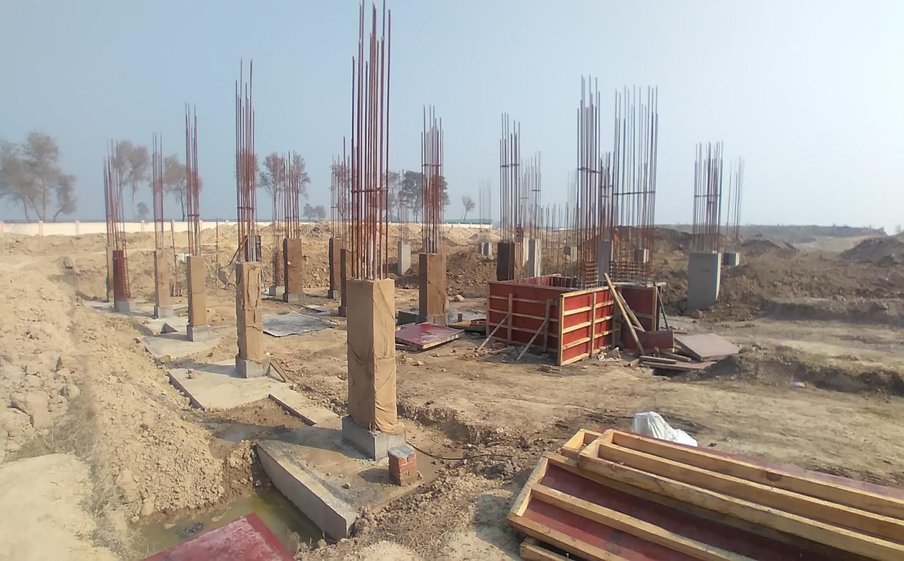 Director's residence – Column casting work in progress 08.02.2021