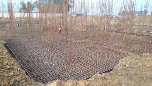 Hostel Block H1 – Steel placing & binding second layer work in progress 05.01.2021