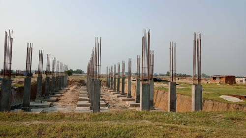 HVAC PLANT ROOM -  column casting works in completed 11.05.2021
