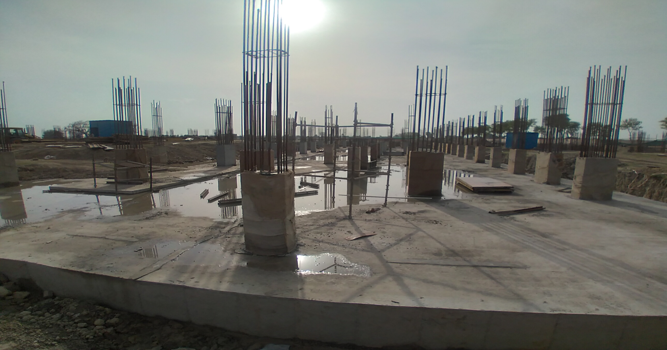 Academic block – 1st pit Column casting work in completed 22.03.2021