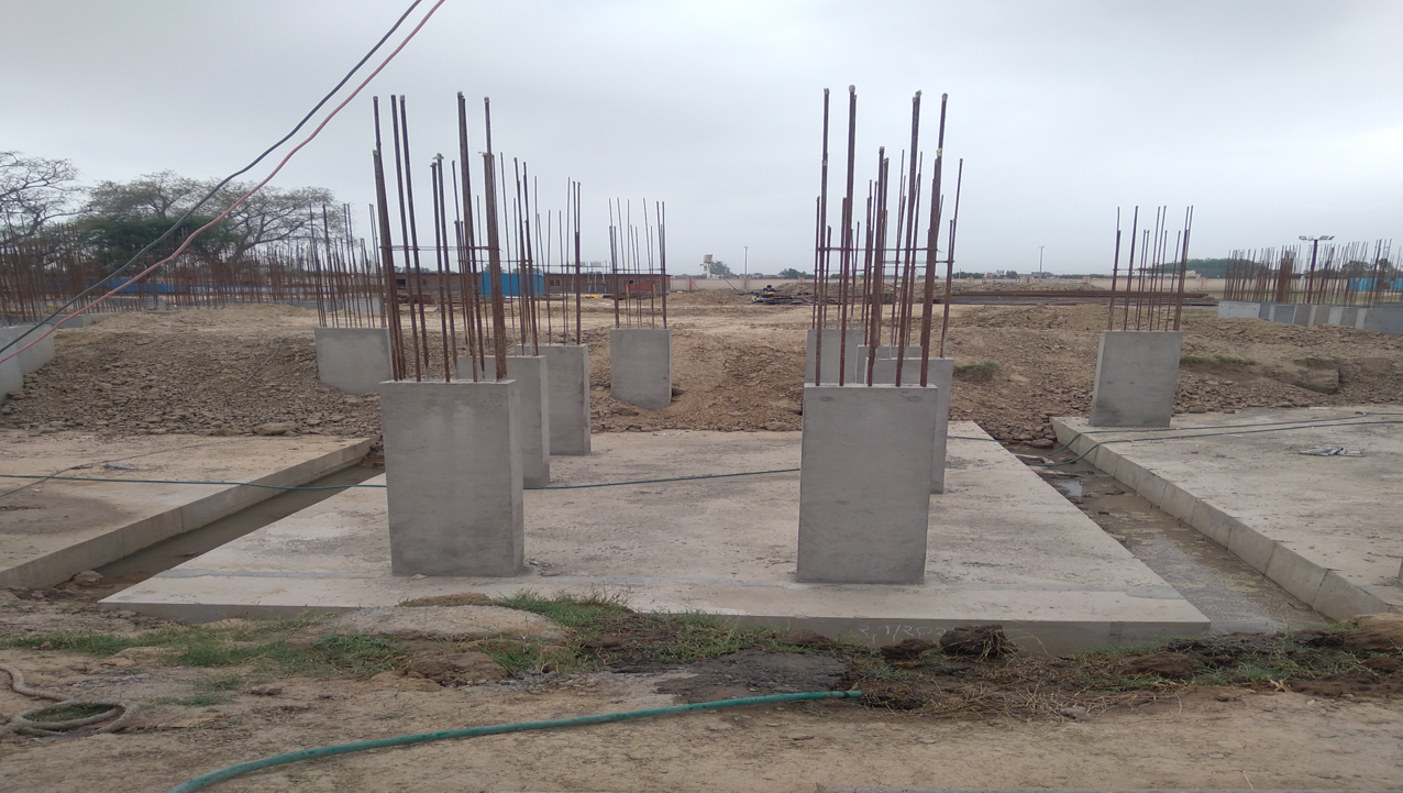 Hostel Block H6 - column casting work in completed 05.04.2021