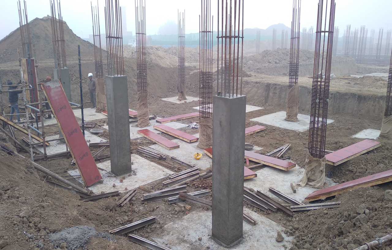 COMMAND CENTER –footing RCC work completed & Columns work in progress 18.01.2021