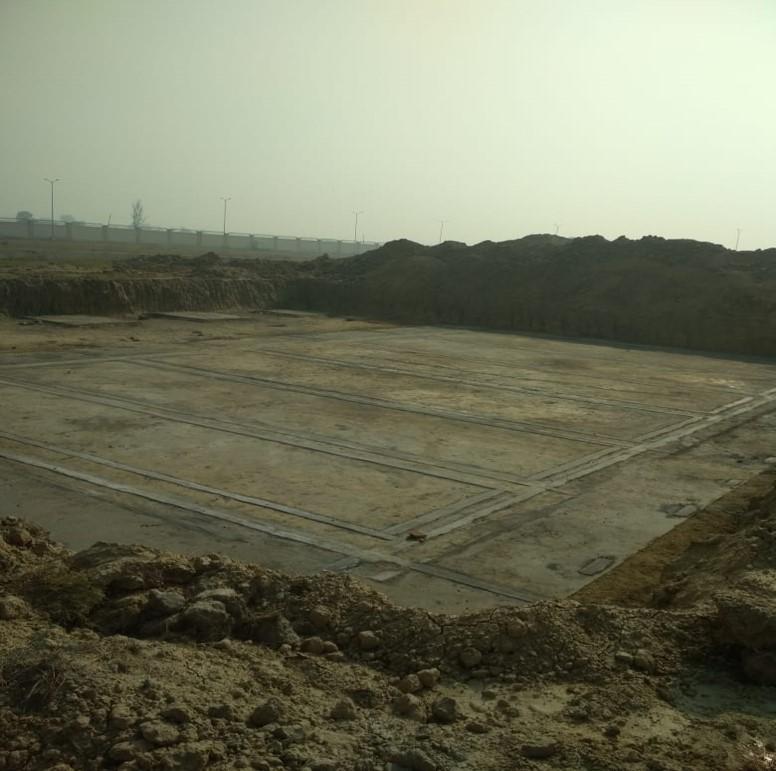WATER TANK & Plant room  - Footing PCC work Progress (21.12.2020)