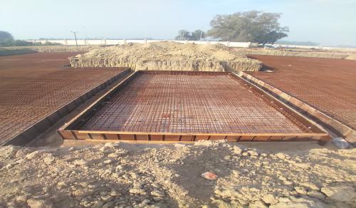 Hostel Block H2 – steel placing & binding in progress -(08-12-2020)