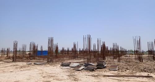 Academic block – 2nd pit soil filling work in completed grade slab works in progress 24.05.2021