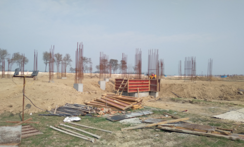 Director's residence – Column casting work in completed 23.02.2021