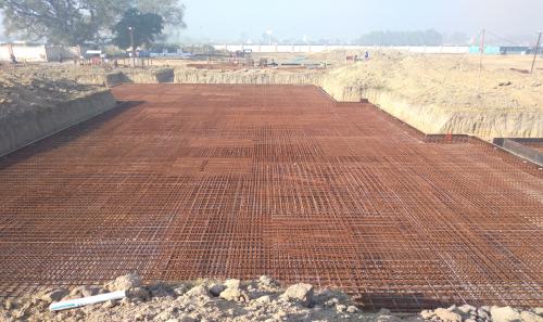 Hostel Block H5 – steel placing & binding work second layer in progress (01-12-2020)