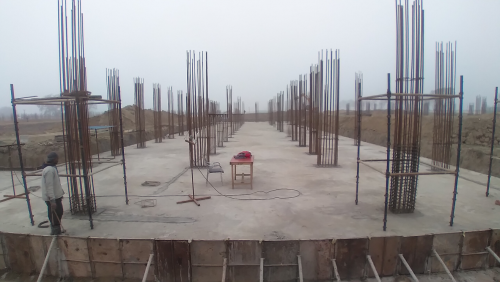 Academic block – 2nd pit RCC raft work in Completed 16.02.2021