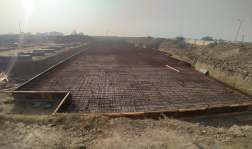 Professor's residence – steel placing & binding work in progress -(08-12-2020)