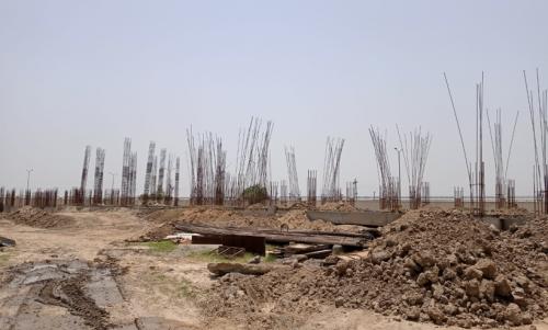 Professor's residenceProfessor's residence – Soil filling work in completed grade slab beam casting work in progress 31.05.2021
