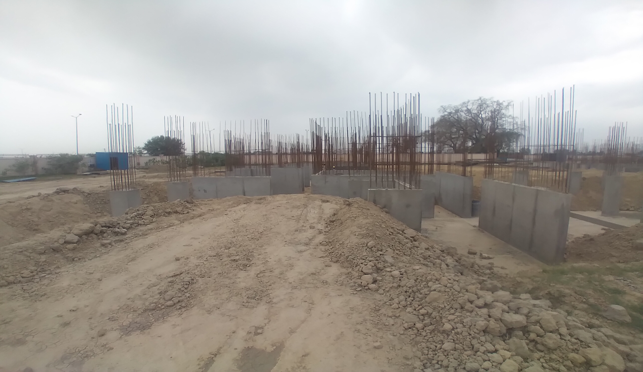 Hostel Block H1 –  Column casting work in completed 05.04.2021