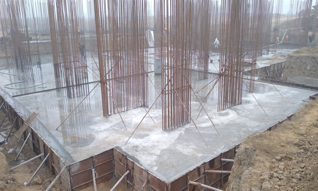Non Teaching Staff Residence –  Raft RCC work in progress 18.01.2021