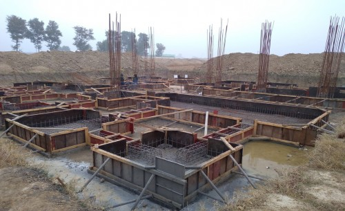 Director's residence – footing steel work in progress - (14-12-2020)