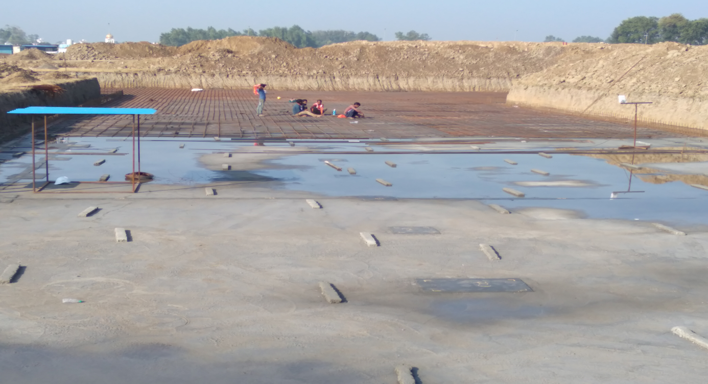Academic block – 1st pit steel work in progress.(17-11-2020)