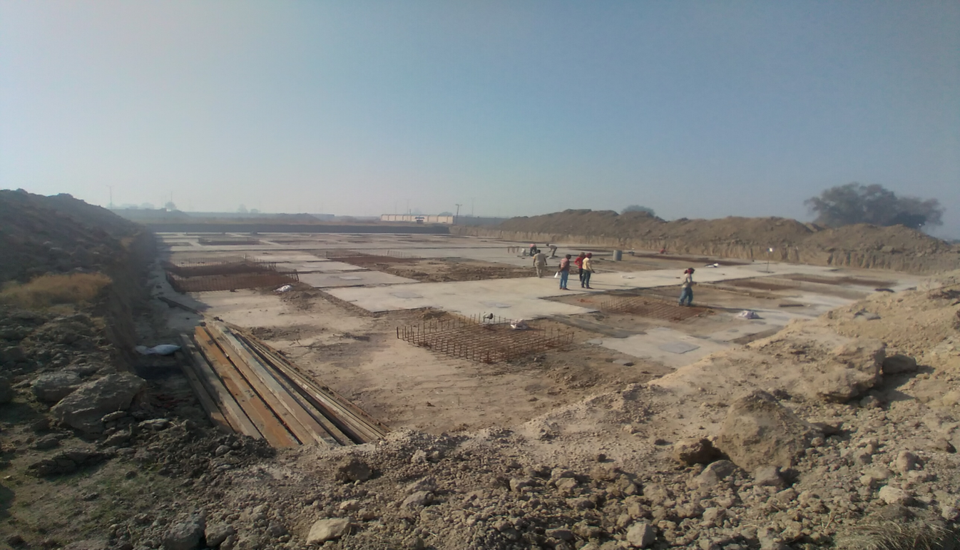 SPORTS COMPLEX – Footing layout work completed & steel work in progress (01-12-2020)